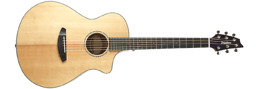 Breedlove Pursuit Exotic Concert Acoustic - Electric Guitar - Sitka-Myrtlewood