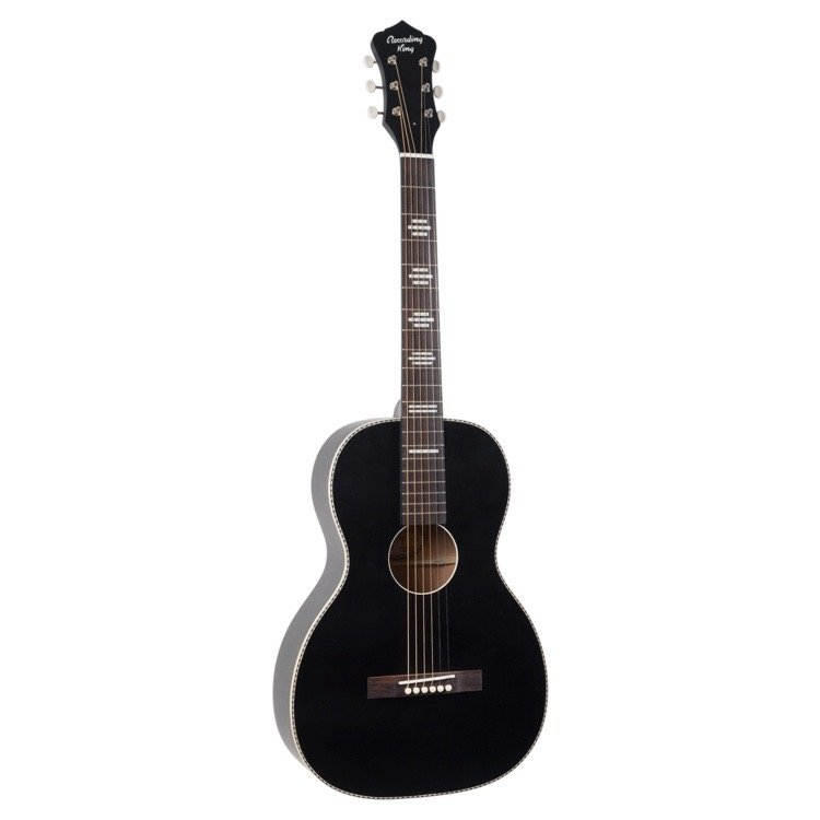 Recording King Dirty 30's Series 7 Single O Parlor Guitar - Matte Black