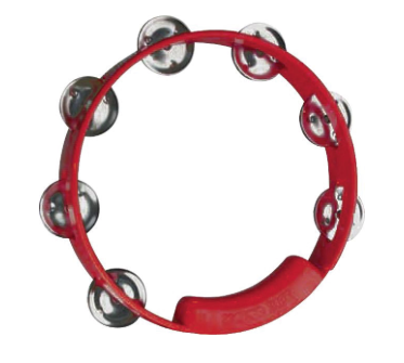 True Color 8 Tambourine - Red