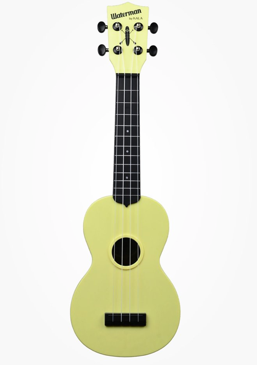 Kala Waterman Soprano Ukulele Matte Pale Yellow
