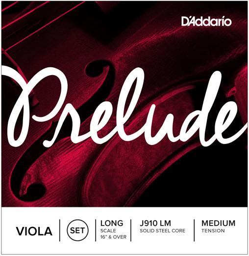 D'Addario Prelude Viola Strings Medium Scale Medium Tension