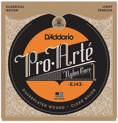 D'Addario EJ43 Pro-Arte' Classical Guitar Strings Light Tension