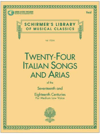 24 Italian Songs & Arias of the 17th & 18th Centuries Medium Low Voice ? Book with Online Audio
