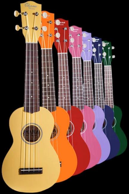 Ohana SK-10 Soprano Ukulele - Colors