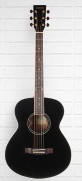 Tanara Grand Concert Acoustic Guitar - Black