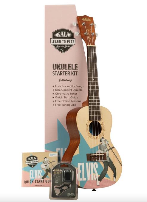 Kala KALA-LTP-C-ERB Learn To Play Elvis Rockabilly Concert Ukulele