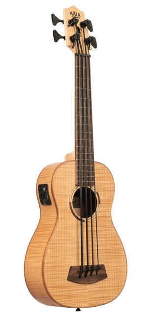 Kala UBASS-FM-FS Flame Maple Acoustic-Electric U-Bass Ukulele w/Bag