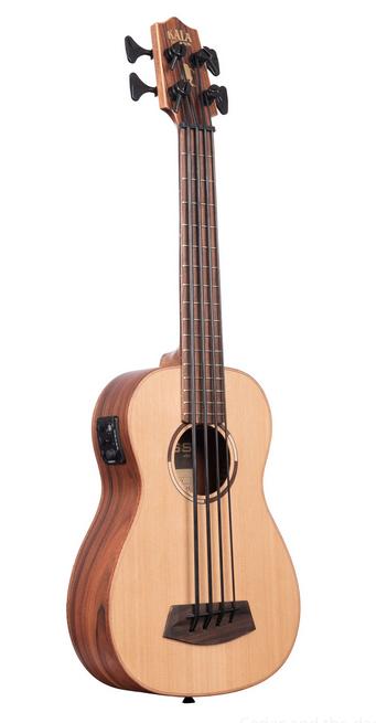Kala UBASS-SCP-FS Solid Cedar Pau Ferro Acoustic-Electric U-Bass Ukulele w/Bag