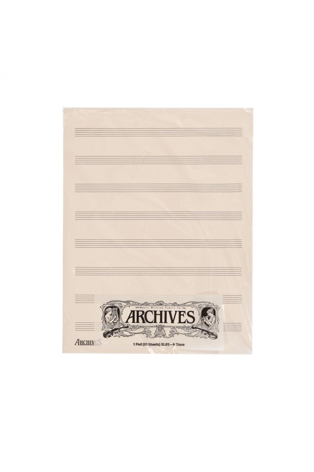 Archives Manuscript Score Pads, 8 Stave, 50 Sheets