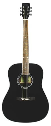 Tanara Dreadnought Acoustic Guitar - Black