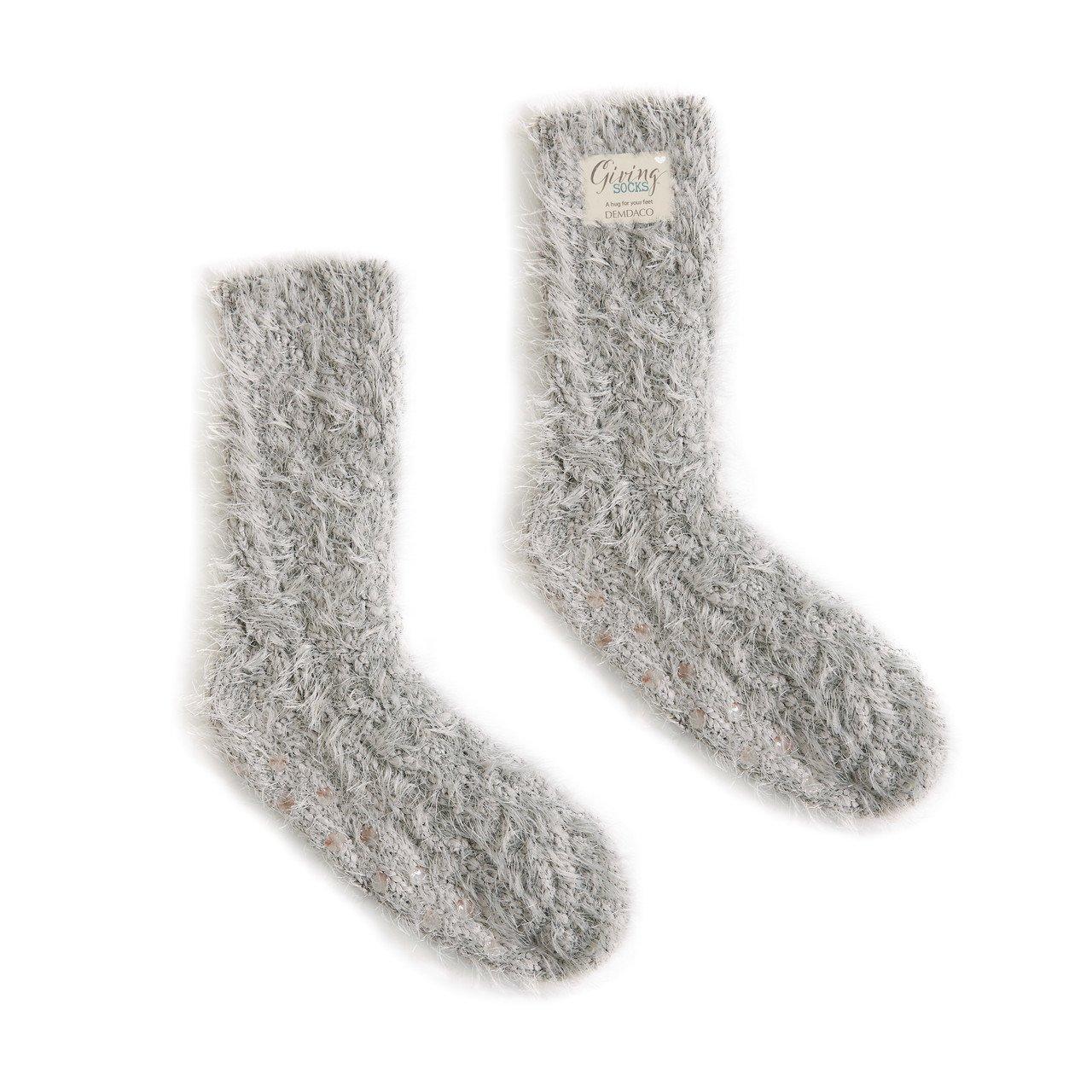 Grey Giving Socks