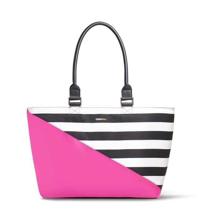 Corkcicle Virginia Tote Bag Cooler - Pink/Black