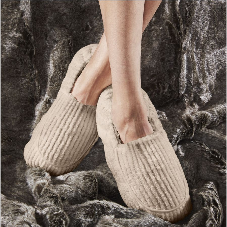 Warmies - Spa Therapy Slippers Warm Gray