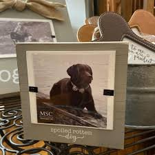Spoiled Rotten Dog Wooden Picture Frame