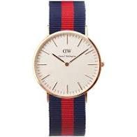 DW Watch Blue & Red Striped Band