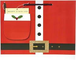 Santa's List Tote Gift Bag - Large