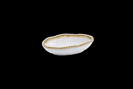 Pampa Bay Long Condiment Bowl Gold