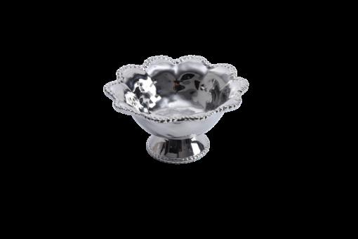 Pampa Bay Footed Bowl Silver