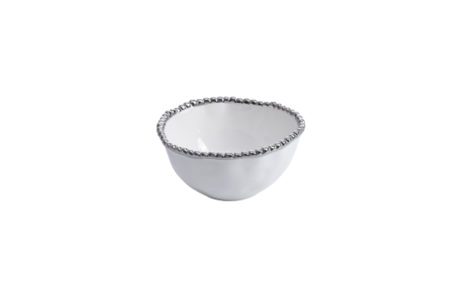 Pampa Bay Small Bowl White and Silver