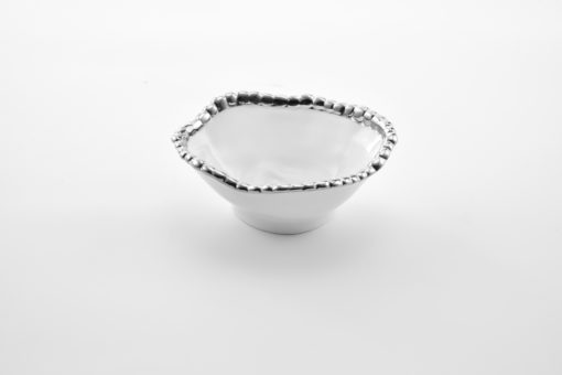 Pampa Bay Snack Bowl White and Silver