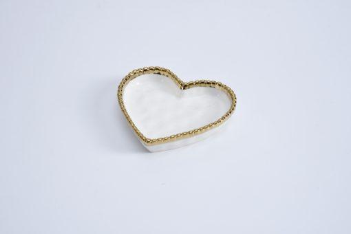 Pampa Bay Small Heart Dish White Gold