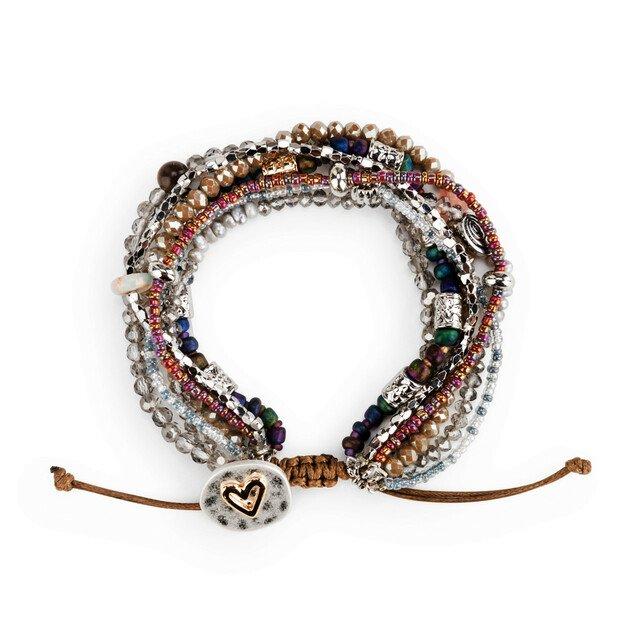 Beaded Love Bracelet - Gray