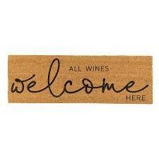 Door Mat All Wines Welcome Here