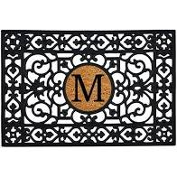 Door mat - Rubber Monogram Doormat with Insert