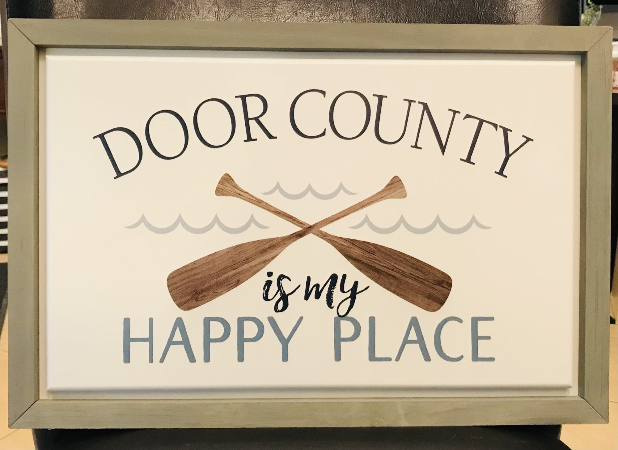 Door County is My Happy Place Wood Picture
