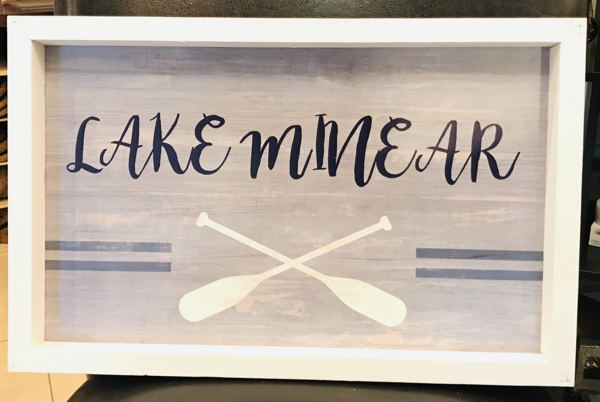 Lake Minear Wooden Picture
