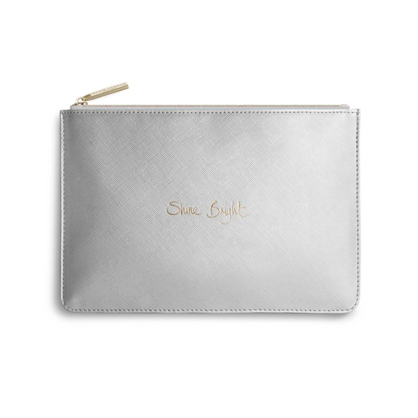 Katie Loxton - Perfect Pouch | Shine Bright | Metallic Silver
