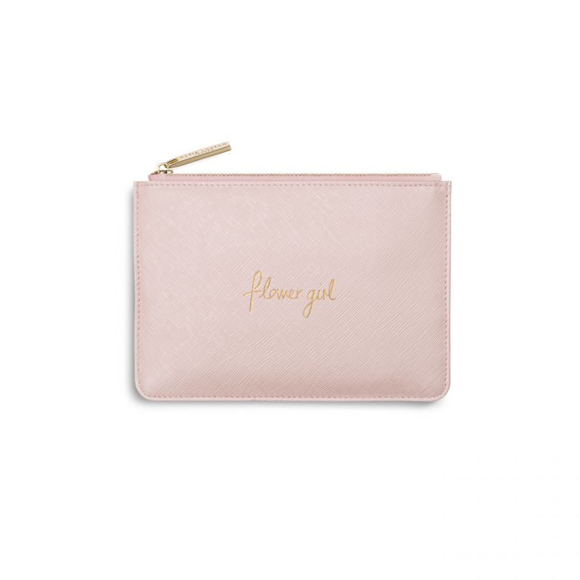 Katie Loxton - Mini Perfect Pouch | Flower Girl | Metallic Pink