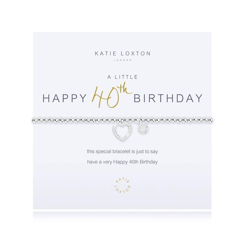 Katie Loxton - Happy 40th Birthday Bracelet