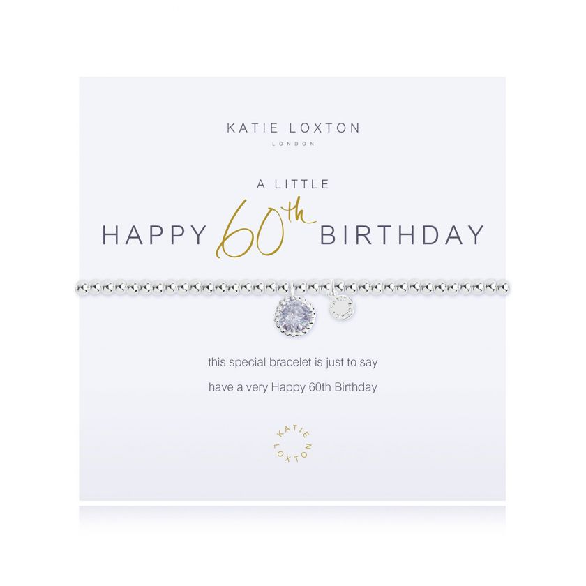 Katie Loxton - Happy 60th Birthday Bracelet