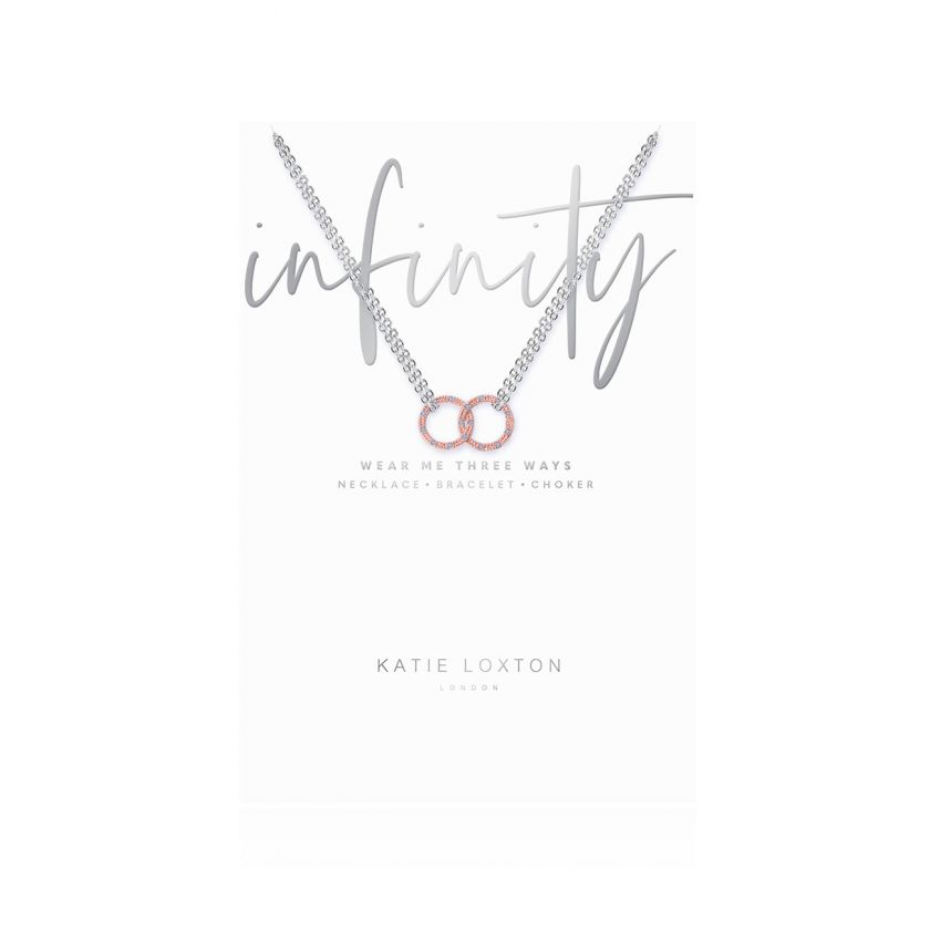 Katie Loxton - Infinity Necklace Rose Gold