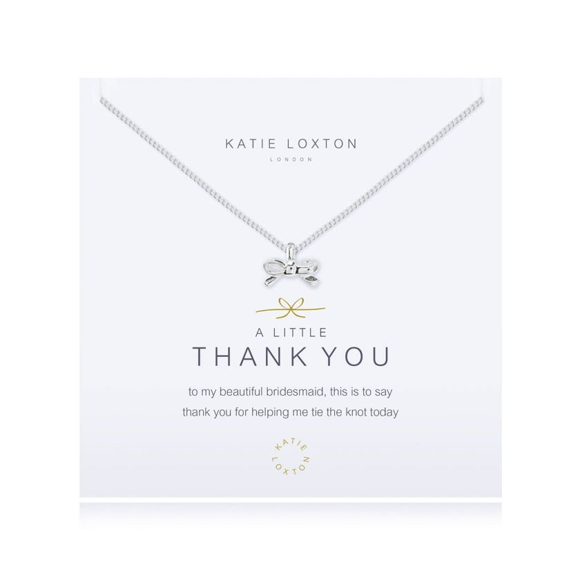 Katie Loxton - Thank You Necklace - Bridesmaid