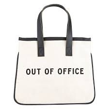 Out of Office Canvas Tote