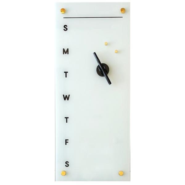 Petal Lane Glass Magnetic Dry Erase Board Days of the Week