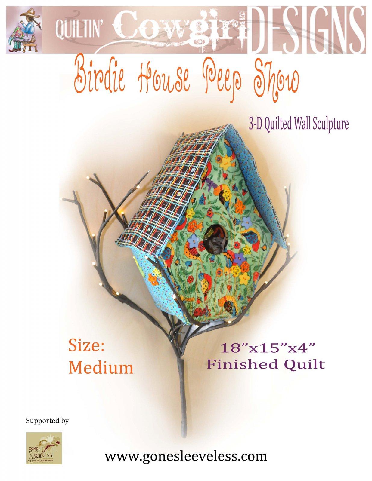 BIRDIE HOUSE PEEP SHOW - MEDIUM with HANGER