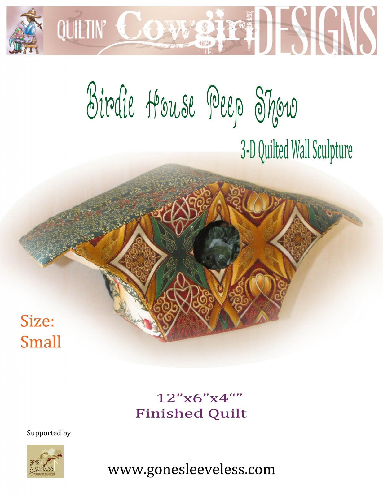 BIRDIE HOUSE PEEP SHOW - SMALL with HANGER