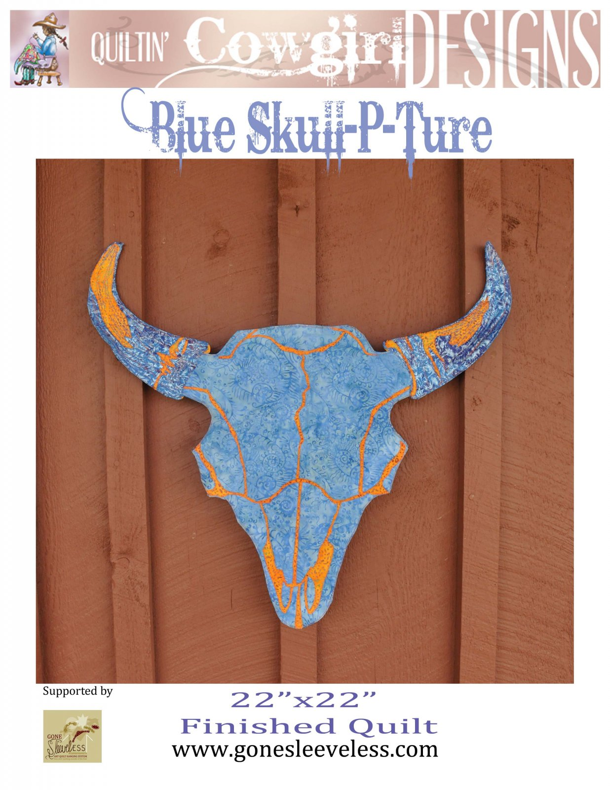 BLUE SKULL-P-TURE BUFFALO