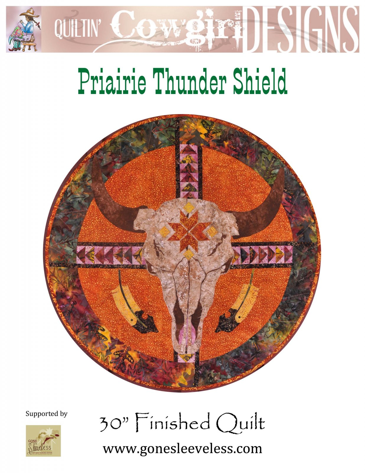 PRAIRIE THUNDER SHIELD FULL CIRCLE QUILT