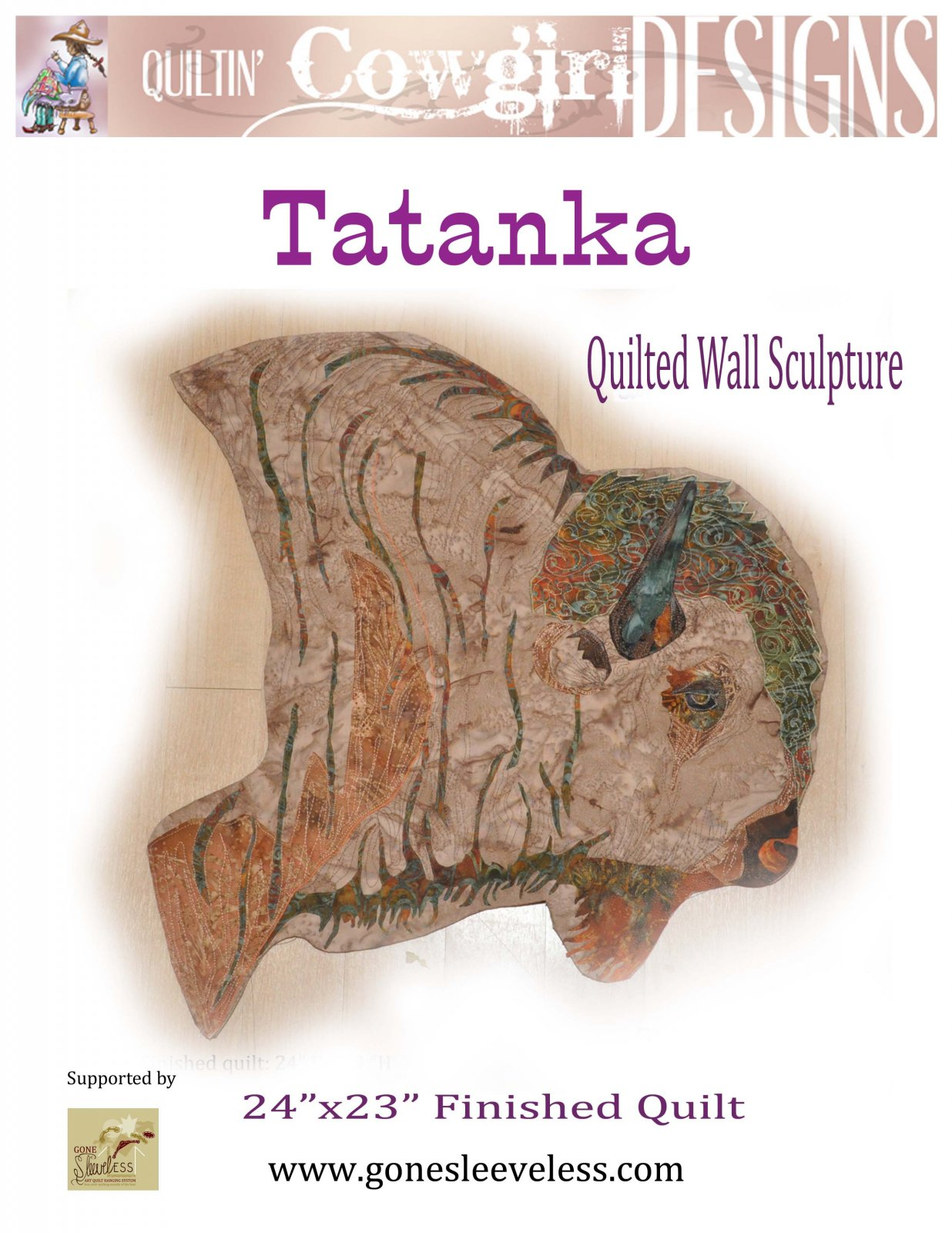 TATANKA QUILTED WALL SCULPTURE
