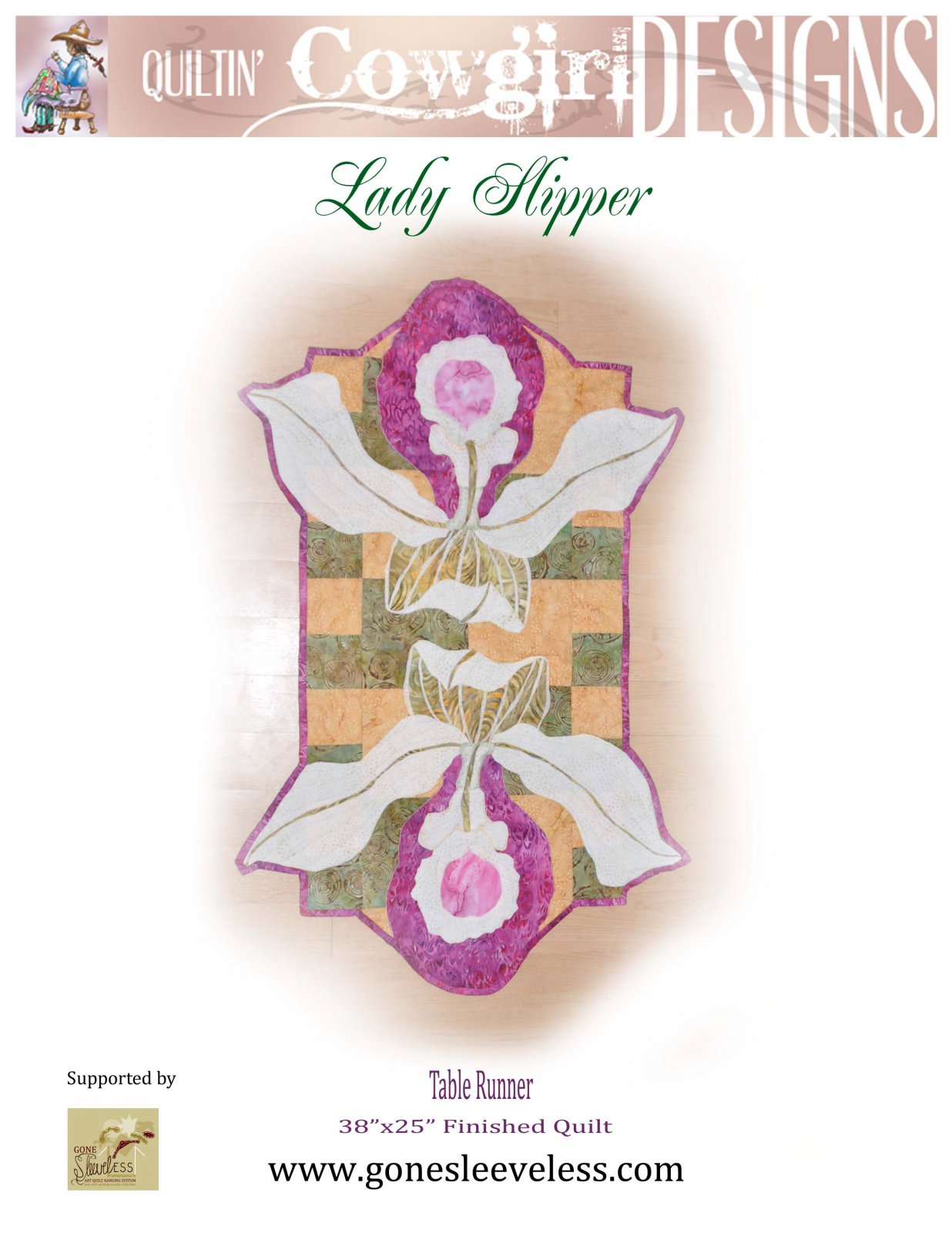 LADY SLIPPER TABLE RUNNER