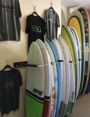Surfboard rentals Banks Surf Supply