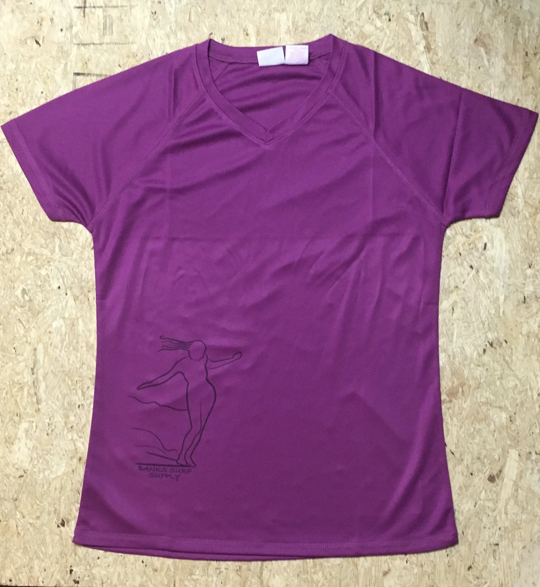 a6890cca Banks Surf Supply Noserider Ladies Short Sleeve Rashguard Purple Orchid