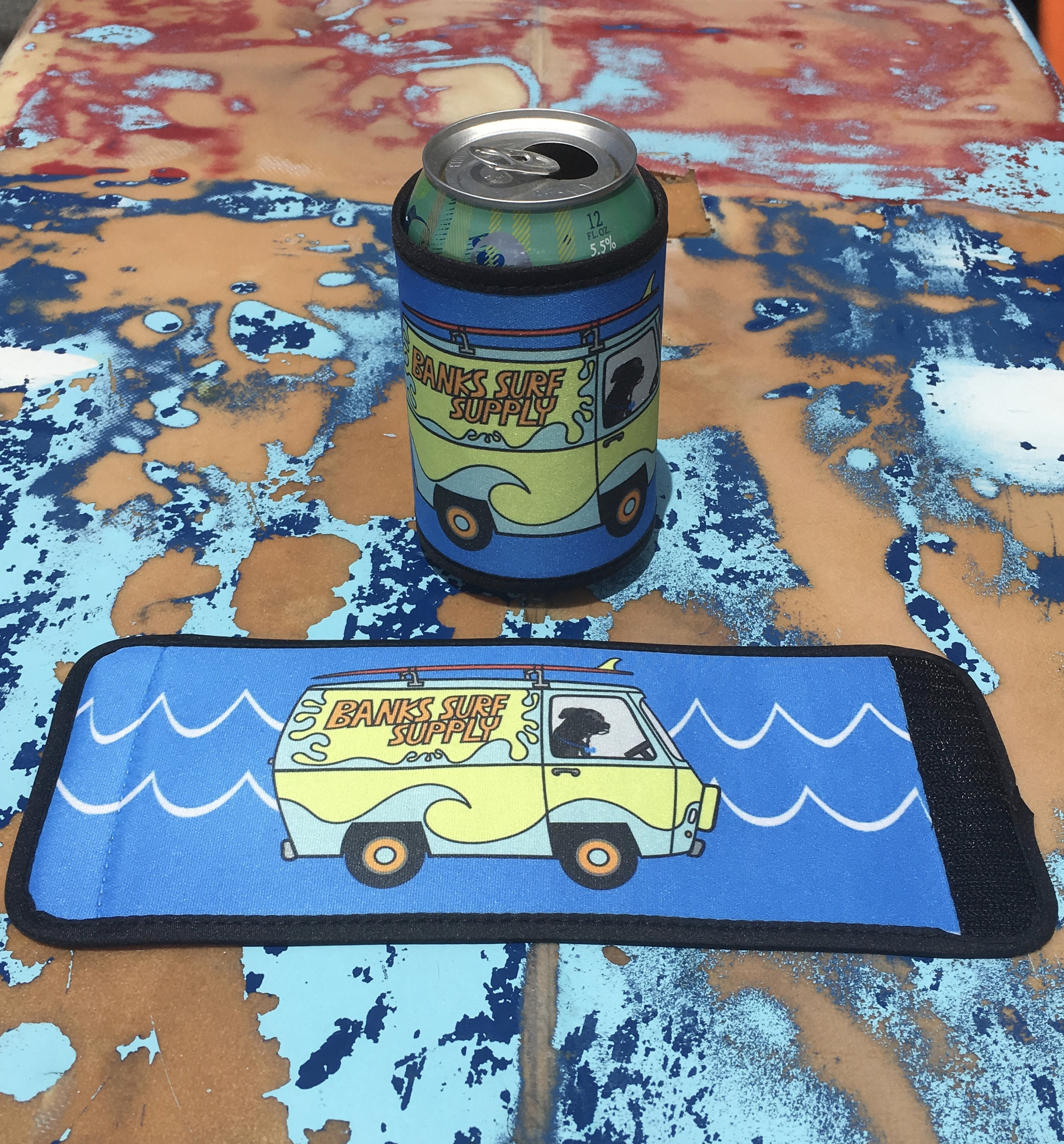Banks Surf Supply Fred Shreds Wrap Koozie