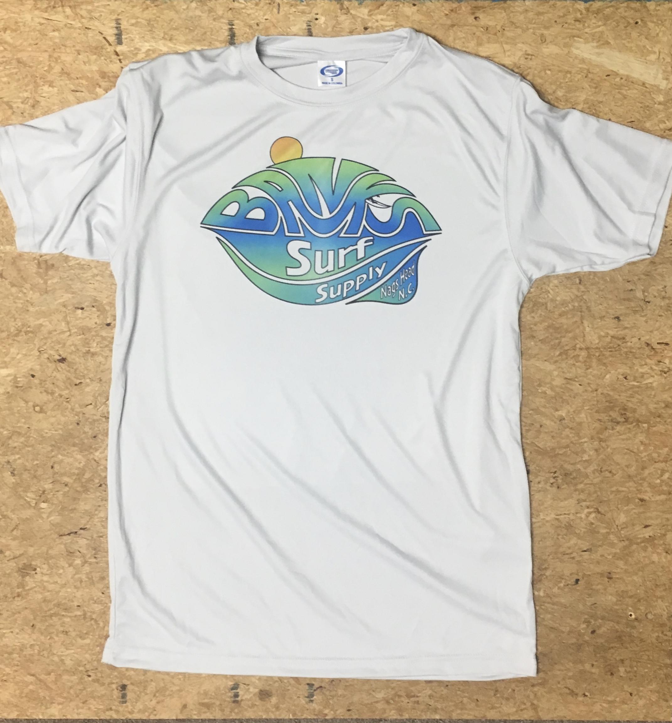 Banks Surf Supply A-Frame Solar Short Sleeve Tee  Pearl Grey