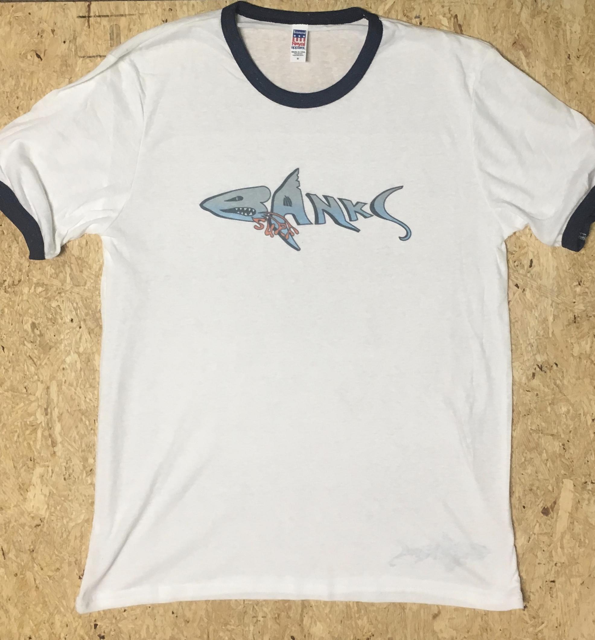 Banks Surf Supply Lurker Short Sleeve Ringer Tee Triblend White/Navy