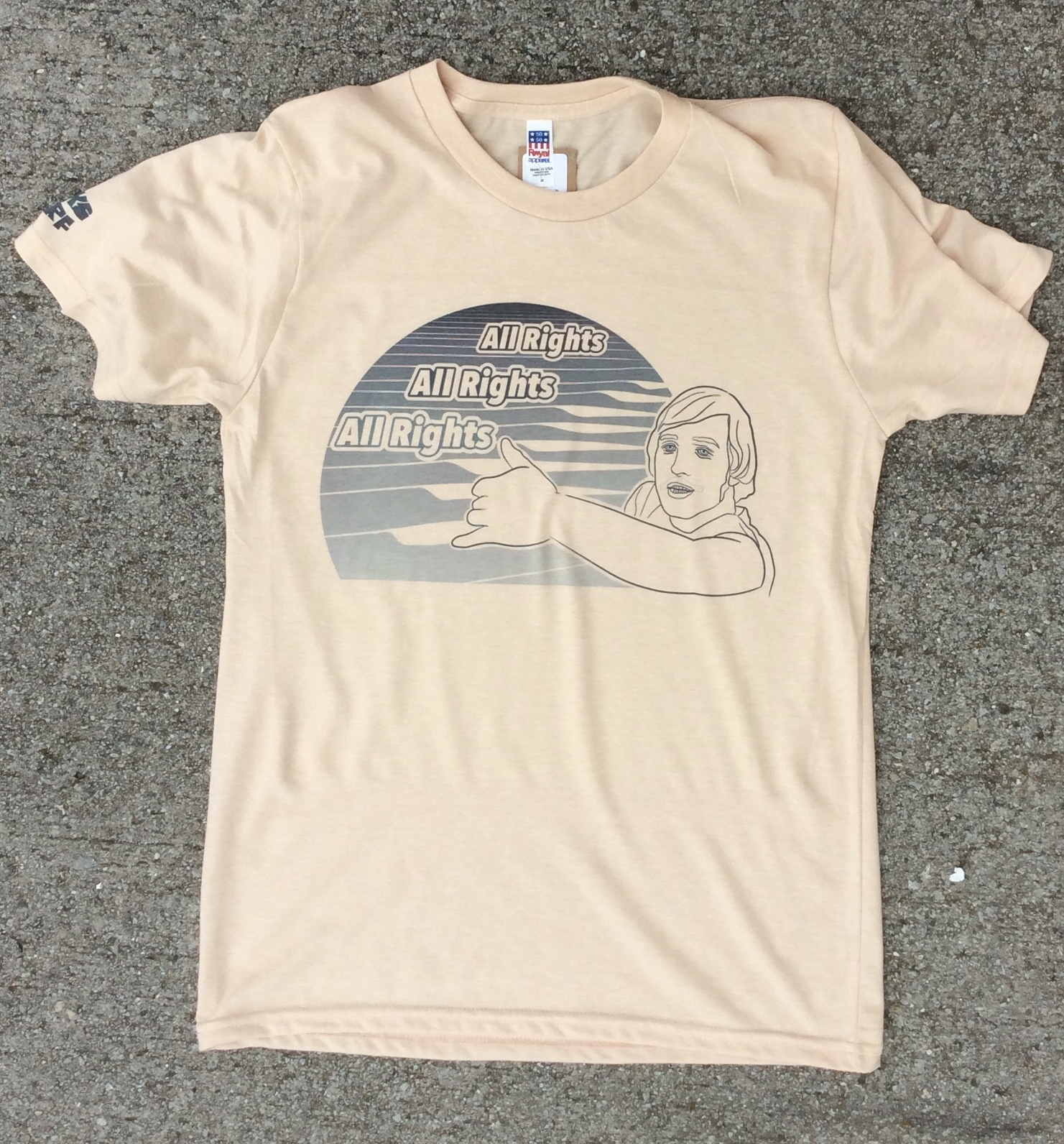 Banks Surf Supply Wooderson Short Sleeve Tee Heather Champagne